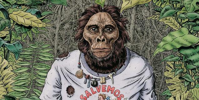 El dibujo de un simio vestido con una camiseta en un paisaje selvático sirve de cartel a la edición de este año
