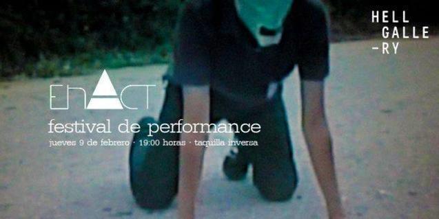 El cartel que anuncia la próxima edición del encuentro de performances EnAct
