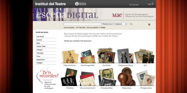 Escena Digital és un dels catàlegs del MAE