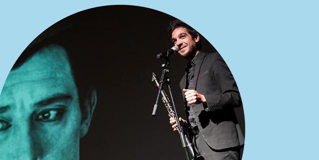 Cartell promocional de la projecció amb música en directe de 'El rostre pàl·lid'