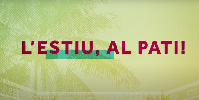 """Poster with the slogan """"L'Estiu, al Pati!"""""""