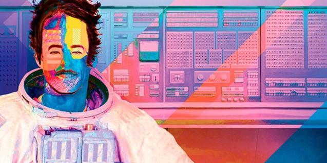 El dibujo de un astronauta con la cara manchada de colores diversos sirve de cartel a la edición de este año