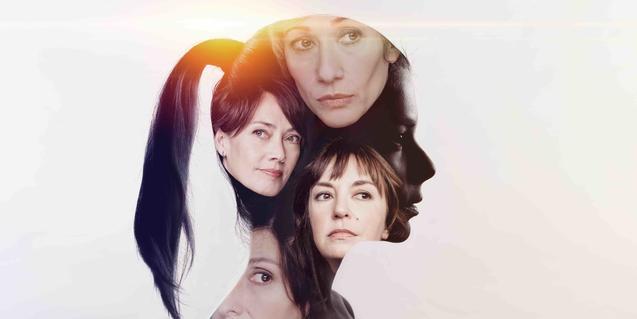 Un muntatge fotogràfic que mostra les protagonistes d'EVA, una proposta teatral de les T de Teatre