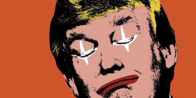 Una imatge deformada de Donald Trump que recorda les creacions d'Andy Warhol
