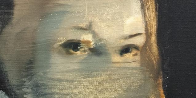 Detalle de una pintura de Julia Santa Olalla que se puede ver en la exposición