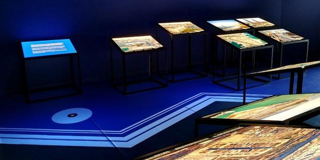 Una parte de la exposición 'La línea de costa de Barcelona'