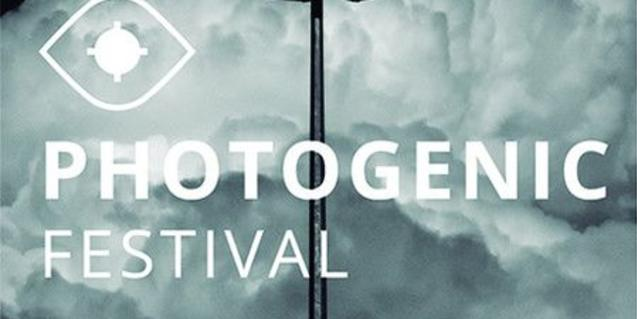 The sky with a big white cloud and the festival title superimposed on it.