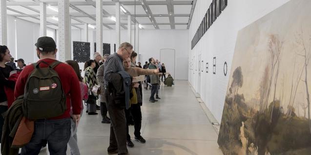 Una de les exposicions de la Fabra i Coats: Centre d'Art Contemporani de Barcelona i Fàbrica de Creació