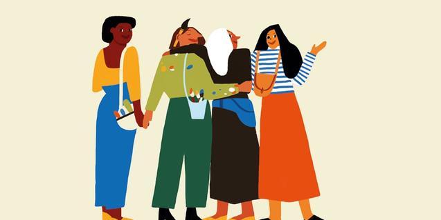 Un dibuix que mostra dones de diverses cultures serveix de cartell per a l'activitat