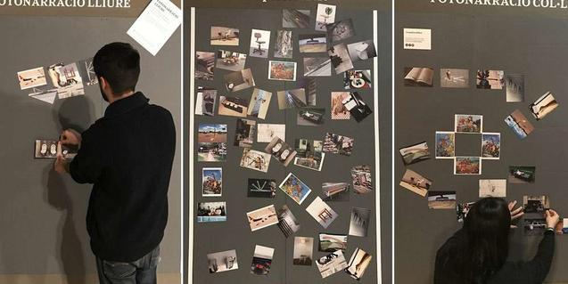 Fotografia de l'espai del taller familiar de l'exposició