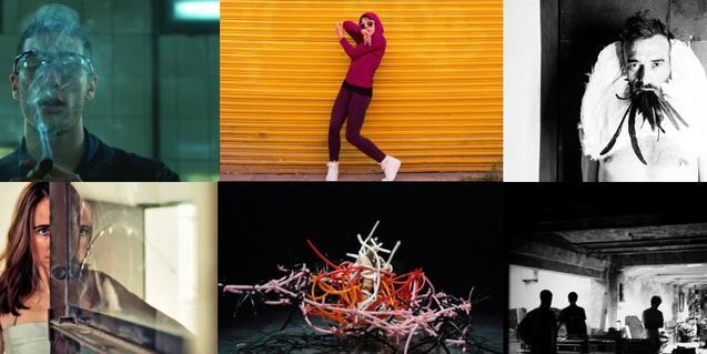 Un collage de imágenes con algunos de los artistas que participan en el festival