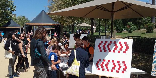 Imagen de una parada de la Fiesta de la Ciencia del año pasado