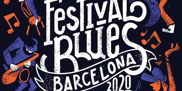 Cartell del Festival de Blues de Barcelona 2020