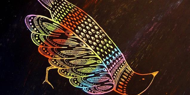 El dibujo de un pájaro sirve de portada al disco de Marc Egea
