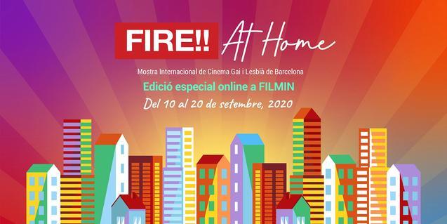 Cartell de la mostra FIRE!! at home