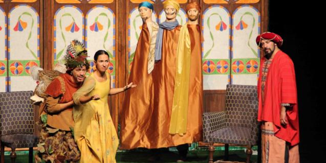 Fotografía del espectáculo, actores y actrices en el escenario