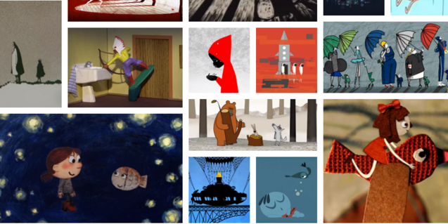 Un collage d'algunes de les pel·lícules disponibles online.