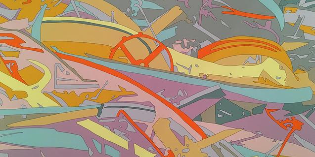 Una de las obras de Ruyter que se exponen en la galería Senda