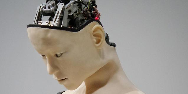 Imatge d'un maniquí cyborg