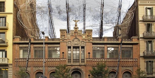 Façana de la Fundació Tàpies