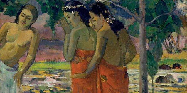 Tres mujeres tahitianas (1896), de Gian Paul Gauguin