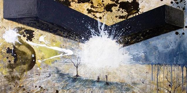Una de les pintures de Miquel Serratosa que es poden veure a l'exposició