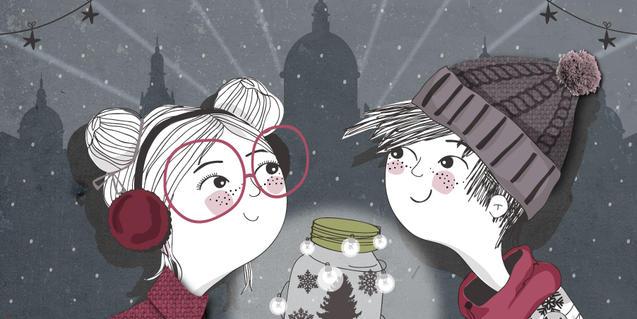 Ilustración del cartel de las actividades de Navidad