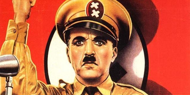 Un cartel anunciador del film de Chaplin