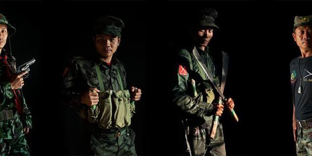 Alguns dels guerrillers birmans retratats per Antolín Avezuela