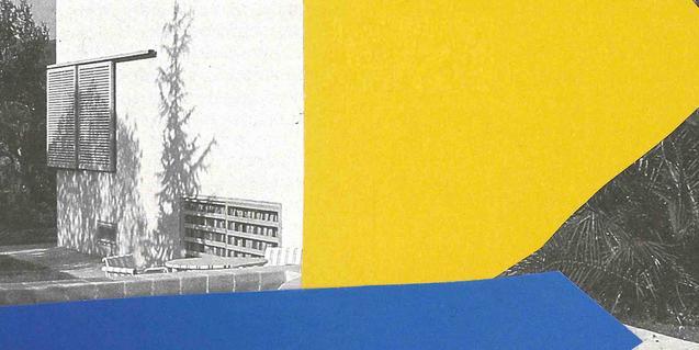 La imagen del exterior de una vivienda sirve como cartel para anunciar la exposición