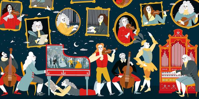 Cartel ilustrado del concierto