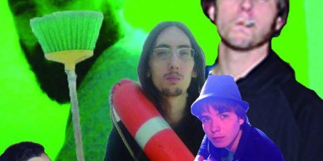 Un collage con imágenes de los músicos que intervienen en esta experiencia sonora