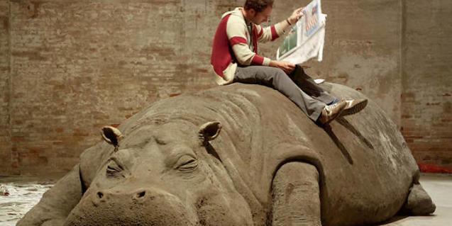 La peça d'art de l'hipopòtam