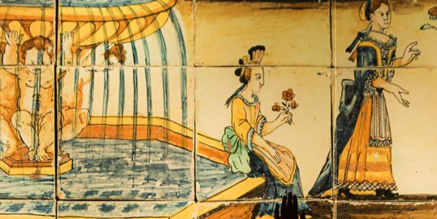 Imagen de un mosaico tradicional
