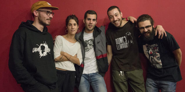 Retrat de grup dels integrants de la banda