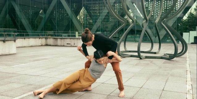 Uno de los duos de nuevas danzas urbanas que forman parte del espectáculo