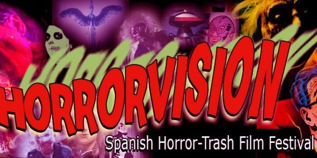 Un collage con dibujos de brujas, monstruos y personajes con superpoderes sirve de cartel por esta cita cinematográfica