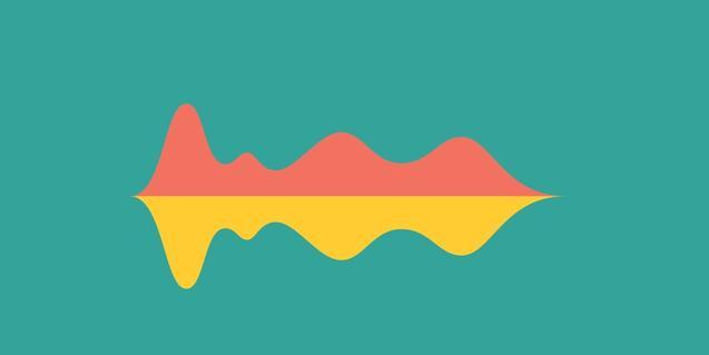 La imatge d'aquest concurs és una figura abstracta que tant representa una muntanya com una ploma o una ona sonora