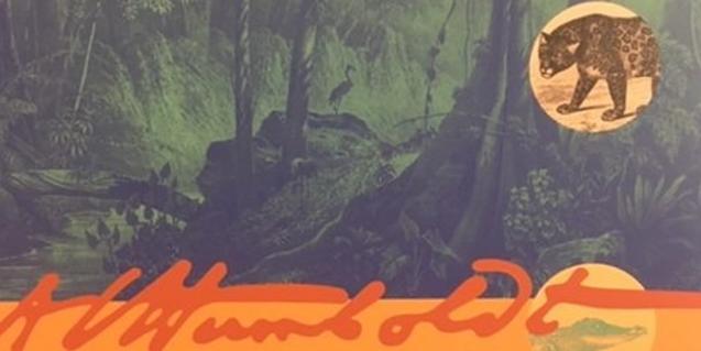 Unos dibujos que muestran la fauna tropical sudamericana en el cartel que anuncia la exposición