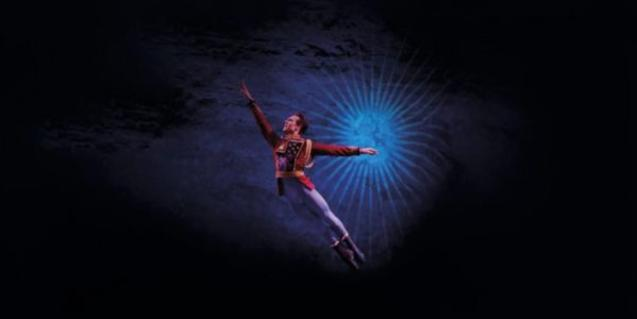 A dancer leaping.