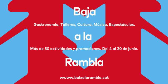 Comienza la segunda fase de la campaña 'Baja a La Rambla'