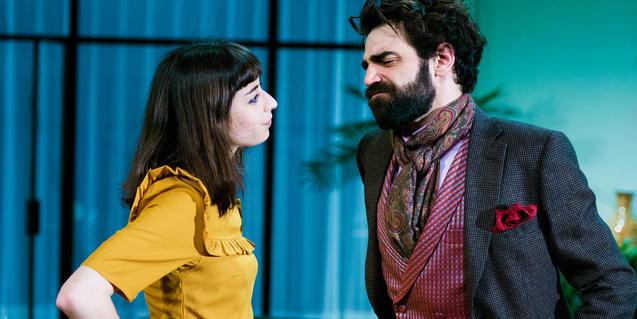 Paula Jornet y David Verdaguer en 'La importància de ser Frank'