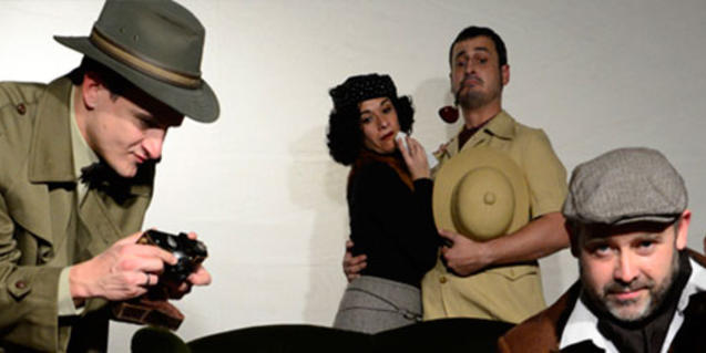 Algunos de los intérpretes de la obra 'Assassinat al Club'