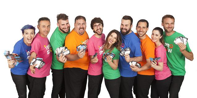 Foto dels actors i les actrius de la companyia