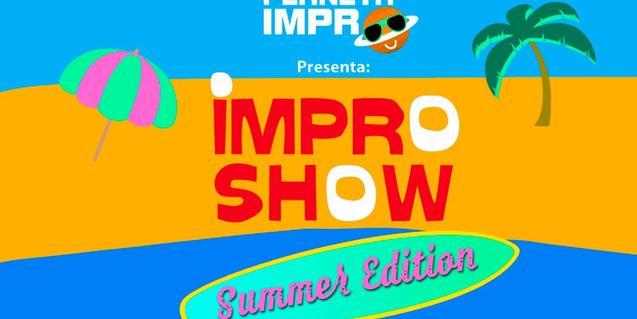 Cartel del espectáculo de verano de la compañía Planeta Impro
