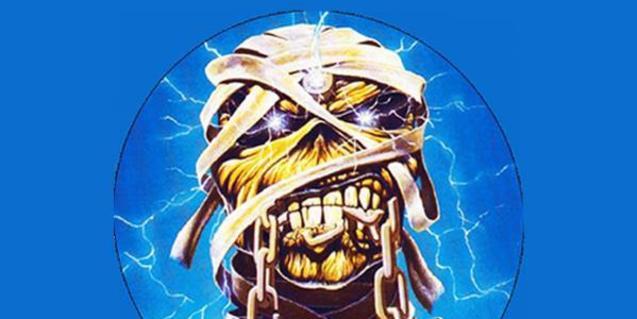 Cartell del concert amb la imatge d'Iron Maiden