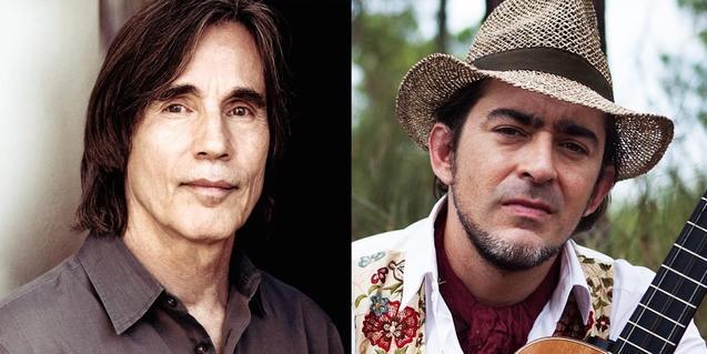 Una imatge del cantautor nord-americà Jackson Browne i el músic andalús Raúl Rodríguez