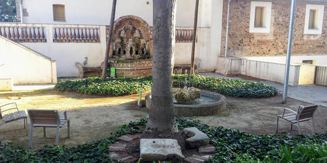 Una imagen del jardín del Centro Cívico