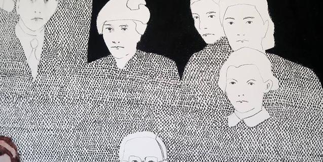 Una de las obras de Andrea Leria