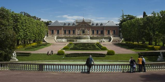 Vista parcial dels jardins del Palauet Albéniz